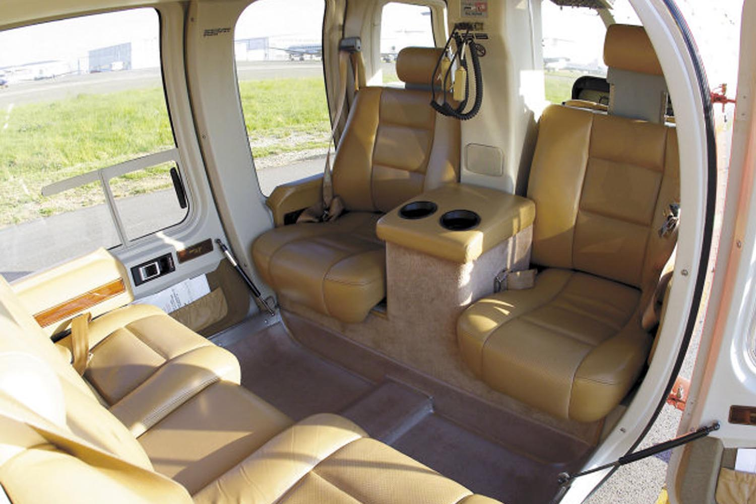 Valdisere-Helicopters_Bell-407-VIP-Interior-parked-in-Valdisere